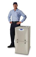 carrier dealer technician with furnace