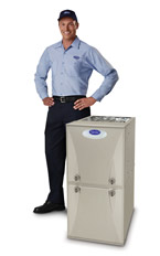 carrier dealer technician with furnace